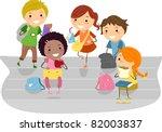 illustration of kids enjoying... | Shutterstock .eps vector #82003837
