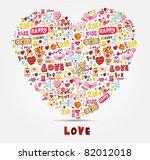 cartoon love card | Shutterstock .eps vector #82012018