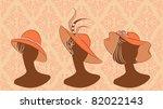 Vintage Fashion Girls In Hat....