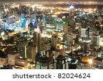 business town at night  bangkok ... | Shutterstock . vector #82024624