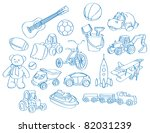 sketch  drawing of a bunch of... | Shutterstock .eps vector #82031239