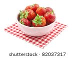 Fresh Strawberries In A Pink...