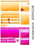 web elements big collection  ... | Shutterstock .eps vector #82041238