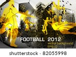 football poster design with... | Shutterstock .eps vector #82055998