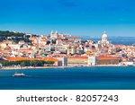 lisbon skyline as seen from...   Shutterstock . vector #82057243