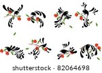 stylized birds collection ... | Shutterstock .eps vector #82064698