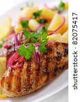 grilled chicken breast with... | Shutterstock . vector #82075417