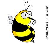 cartoon bee | Shutterstock .eps vector #82077304