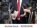close up of conference meeting... | Shutterstock . vector #82082848