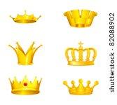 crown set on white  bitmap copy | Shutterstock . vector #82088902