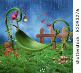 Fantasy Fairy Meadow With A...