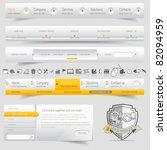 web design navigation set with... | Shutterstock .eps vector #82094959