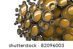 Abstract 3D background for company presentation orange - stock photo