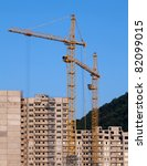 cranes and building under... | Shutterstock . vector #82099015
