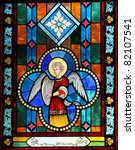 angel on stained glass | Shutterstock . vector #82107541
