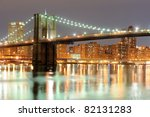 Brooklyn Bridge In New York At...