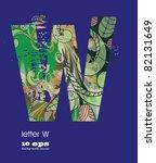 abstract pattern  font  fresh... | Shutterstock .eps vector #82131649