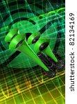 digital illustration  of horn ... | Shutterstock . vector #82134169