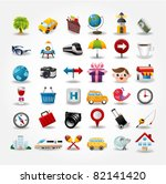 travel icons symbol collection. ...