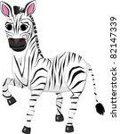 illustration of funny zebra... | Shutterstock .eps vector #82147339