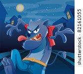 werewolf cartoon | Shutterstock .eps vector #82161055