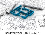 architect rolls and plans | Shutterstock . vector #82166674
