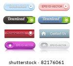 web elements vector button set... | Shutterstock .eps vector #82176061