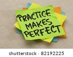 practice makes perfect   a... | Shutterstock . vector #82192225