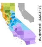 california state counties map... | Shutterstock .eps vector #82215439