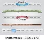 web elements vector header  ...   Shutterstock .eps vector #82217173