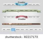 Web Elements Vector Header & Navigation Templates Set 01