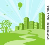 green city background   concept ... | Shutterstock .eps vector #82217866