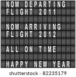 raster happy new year airport... | Shutterstock . vector #82235179