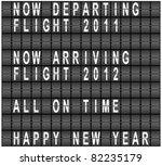 raster happy new year airport...   Shutterstock . vector #82235179