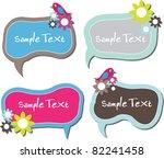 cute floral speech bubbles or... | Shutterstock .eps vector #82241458