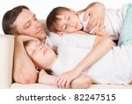 portrait of a sleeping family... | Shutterstock . vector #82247515