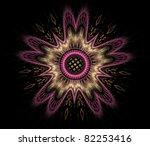 Pink Fractal Flower