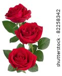 Stock photo a bunch of red roses 82258342
