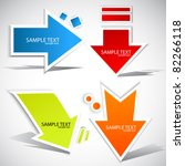 colorful paper arrow  for speech | Shutterstock .eps vector #82266118