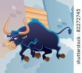 angry bull   Shutterstock .eps vector #82272745