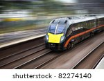 fast moving modern train | Shutterstock . vector #82274140