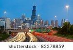 chicago traffic. | Shutterstock . vector #82278859