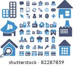 houses icons  signs  vector...