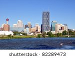 calgary skyline with famous bow ... | Shutterstock . vector #82289473