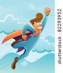 flying super hero | Shutterstock .eps vector #82293952