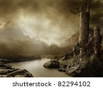 Fantasy Landscape With A Tower...