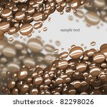 abstract bubbles 3d background - stock photo