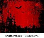 grunge style halloween... | Shutterstock .eps vector #82306891