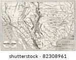 old map of northern mexico and... | Shutterstock . vector #82308961