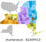 new york state counties | Shutterstock .eps vector #82309513